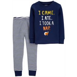 Carters Toddler Boys Took A Nap Turkey Pajama Pants Set