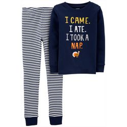 Carters Little Boys Took A Nap Turkey Pajama Pants Set