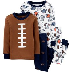 Carters Toddler Boys 4-pc. Football Pajama Pants Set