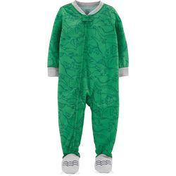 Carters Toddler Boys Dinosaur Print Snug Fit Footie Pajamas