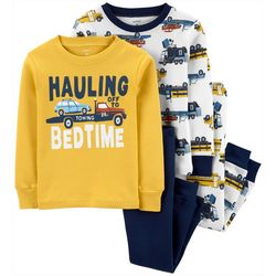 Carters Toddler Boys 4-pc. Hauling Off To Bed Pajama Set