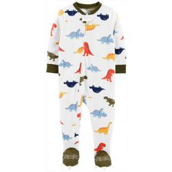 Carters Toddler Boys Dinosaur Feet Snug Fit Footie Pajamas