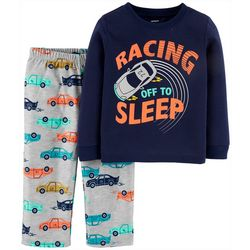 Carters Toddler Boys Racing Off To Sleep Pajama Pants Set