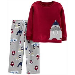Carters Toddler Boys Winter Walrus Pajama Pants Set