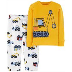 Carters Toddler Boys Construction Truck Pajama Pants Set