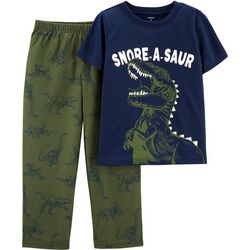 Carters Little Boys Snore-A-Saur Dinosaur Pajama Pants Set