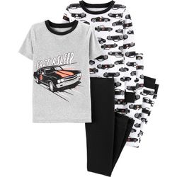 Carters Little Boys 4-pc. Fast Asleep Car Pajama Pants Set
