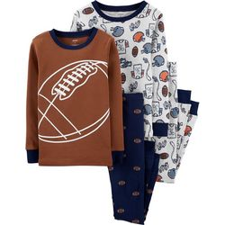 Carters Little Boys 4-pc. Football Pajama Pants Set