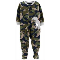 Carters Toddler Boys Camo Dino Snug Fit Footie Pajamas