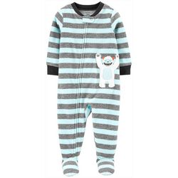 Carters Toddler Boys Striped Yeti Snug Fit Footie Pajamas