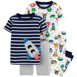 Carters Toddler Boys 4-pc. Rocket Pajama Pants Set