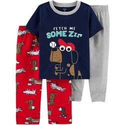 Carters Toddler Boys 3-pc. Dog Pajama Set