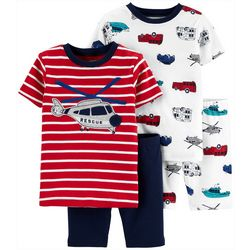 Carters Toddler Boys 4-pc. Helicopter Sleepwear Set