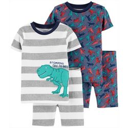 Carters Toddler Boys 4-pc. T-Rex Sleepwear Set