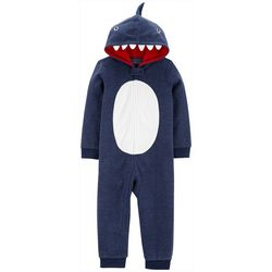Carters Toddler Boys Shark Hoodie Pajama Jumpsuit