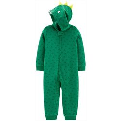 Carters Toddler Boys Dinosaur Hoodie Pajama Jumpsuit