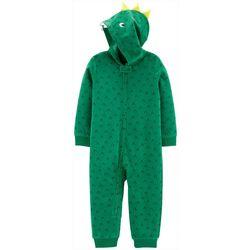 Carters Toddler Boys Dinosaur Hoodie Pajama Jumpsuit