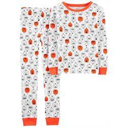 Carters Little Boys 2-pc. Pumpkin Print Pajama Set