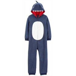 Carters Little Boys Shark Hoodie Pajama Jumpsuit