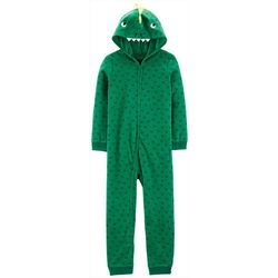 Carters Little Boys Dinosaur Hoodie Pajama Jumpsuit