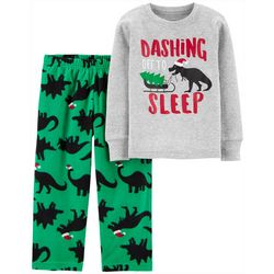 Carters Toddler Boys Dinosaur Christmas Pajama Pants Set