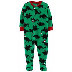 Carters Toddler Boys Santa Hat Dino Snug Fit Footie Pajamas