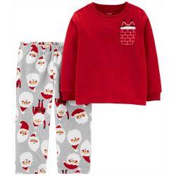 Carters Toddler Boys Santa Pocket Pajama Pants Set