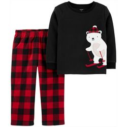 Carters Toddler Boys Plaid Polar Bear Pajama Pants