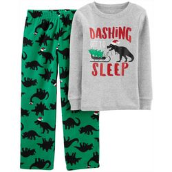 Carters Little Boys Dinosaur Christmas Pajama Pants Set