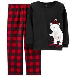 Carters Little Boys Plaid Polar Bear Pajama Pants