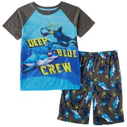 Only Boys Big Boys 2-pc. Deep Blue Crew Pajama Set