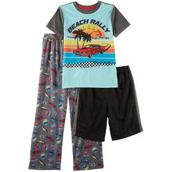Only Boys Big Boys 3-pc. Beach Rally Pajama Set