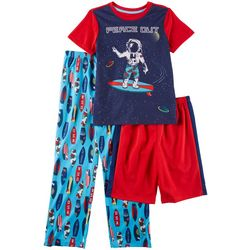 Only Boys Big Boys 3-pc. Peace Out Pajama Set