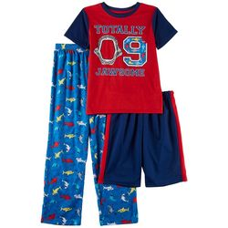 Only Boys Big Boys 3-pc. Totally Jawsome Shark Pajama Set