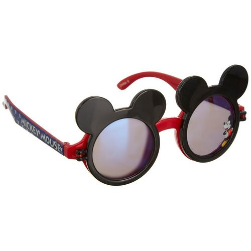 KIDS BLACK RED MOUSE EARS FLIP UP SUNGLASSES CLEAR LENS MICKEY MINNIE CUTE BOW