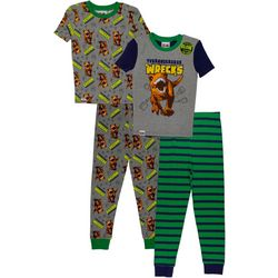 Jurassic World Little Boys 4-pc. Trannosaurus Pajama Set
