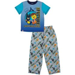 Lego Batman Big Boys 2-pc. Building Pajama Set