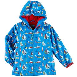 Stephen Joseph Little Boys Nautical Print Raincoat