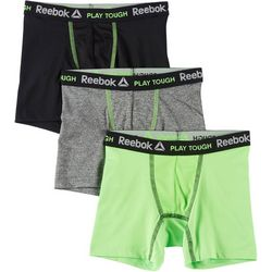Reebok Boys 3-pk. Solid Performance Boxer Briefs