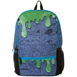 Nickelodeon Mojo Kids Green Slime 90s Character Backpack
