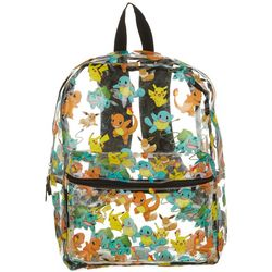 Pokemon Kids Tossed Pokemon Clear Backpack