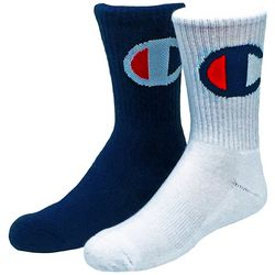 Champion Boys 2-pk. Big C Logo Crew Socks