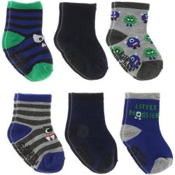 Capelli Toddler Boys 6-pk. Monster Grippy Socks