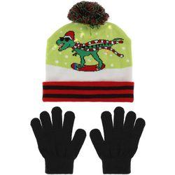 Capelli Boys 2-pc. Dino Light-Up Beanie Hat & Gloves Set