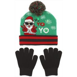 Capelli Boys 2-pc. Santa Yo Light-Up Beanie &