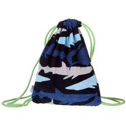 Capelli Boys Shark Drawstring Towel Backpack