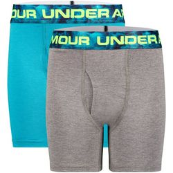 Under Armour Big Boys 2-pk. Boxerjock Solid Boxers