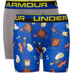 Under Armour Little Boys 2-pk. Boxerjock Breakfast Boxers