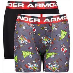 Under Armour Big Boys 2-pk. Boxerjock Grinchmas Boxers