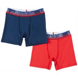 Under Armour Big Boys 2-pk. Solid Americana Boxerjocks